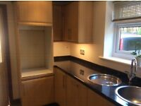 Kitchen units with Hob hood, sink, taps, beech doors, work tops any item can be sold Separately