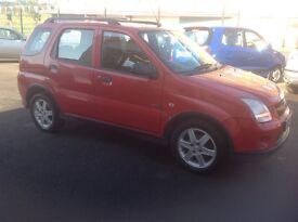 Suzuki Ignis 4grip 4 wheel drive 1.5 2005 97000 miles FSH MOT ONE YEAR red