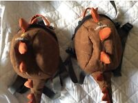 Two Little Life Dinosaur Rucksacks Good Condition