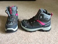 Girls walking boots size 10.5