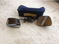 Milenco flat towing mirrors with carry case