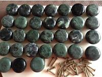 Green stone door knobs