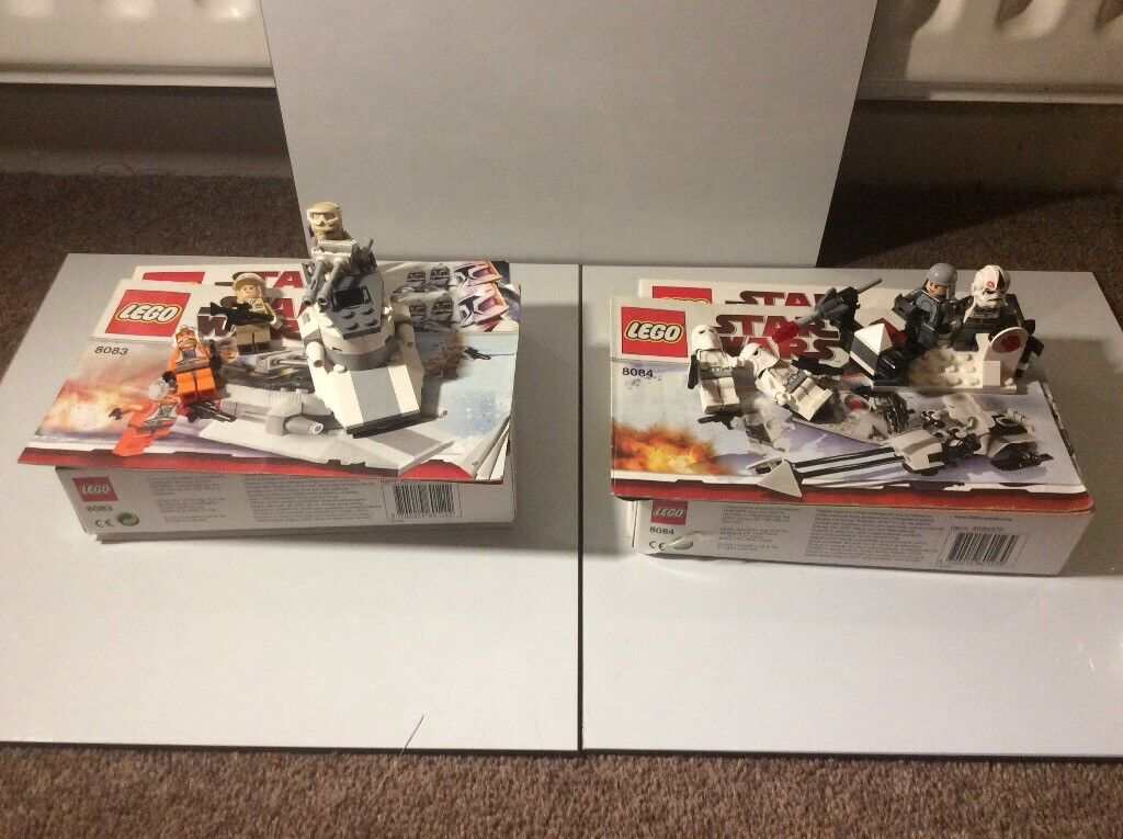 Lego Star Wars Sets 8084 and 8083, Snowtrooper and Rebel Trooper Battle Packs