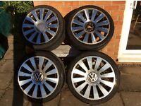 "18"" alloy Wheels X4 in need of refurbishment 1 in need of repair"