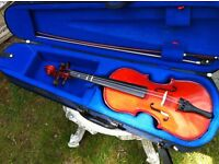 Childs Violin in case with bow