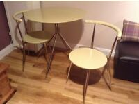 Bistro table and 2 chairs from John Lewis
