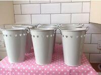 20 metal vases/ pots / buckets