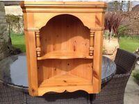 Natural Pine Corner Shelf Unit