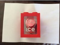 New Ice Big Red Sili Watch in Box.