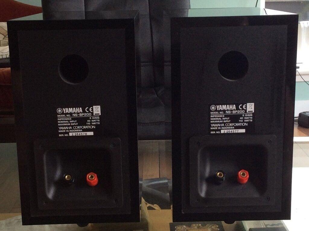 Yamaha Bookshelf Speakers NS BP200 Piano Black