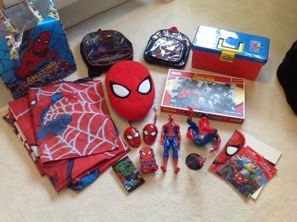 Spiderman bundle of toys, books and games