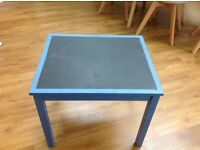 Childrens chalkboard table and chair