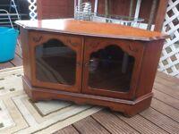 Dark wood tv cabinet/stand