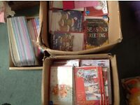 Job lot of Christmas cards , shop early, shop ready priced and cellophane