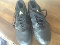 Black adidas football boots UK 6