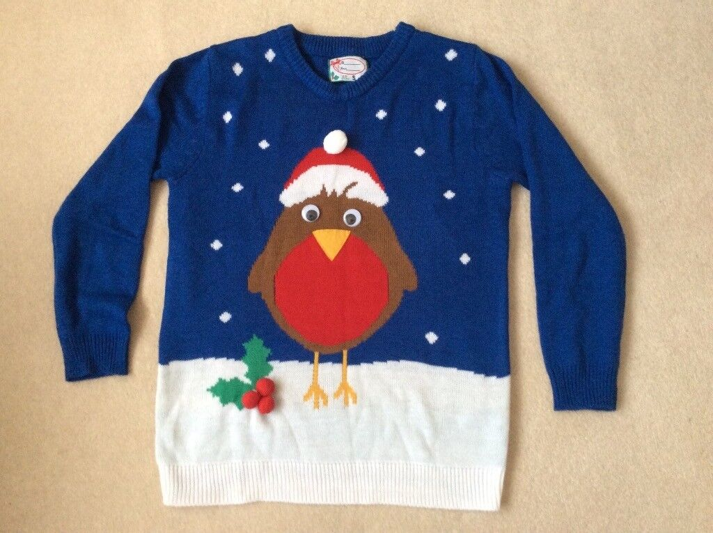 LADIES CHRISTMAS JUMPER size S (10) Brand New