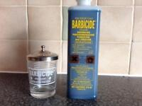 Barbicide Disinfectant Solution and Manicure table size disinfecting Jar for manicure Pedicure