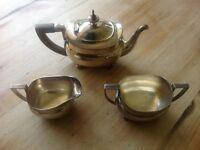 Antique silver plated 3-piece teas set