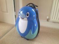 Kids skyflite dolphin suitcase