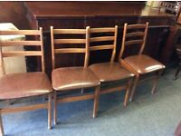 Set of 4 vintage retro chairs