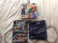 Marvel Comics Men's T-Shirt and Lounge Leg Set Large