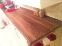 New and unused Wood effect kitchen work top - size 360cmx60cm