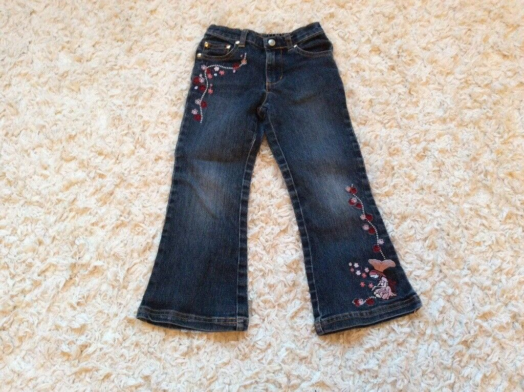 Denim jeans with fairy detail, Ladybird 4-5 years, excellent condition