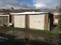 Double detached freehold garage close to lancing station and shoreham airport