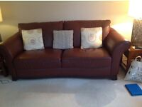 Brown Natuzzi Italian Leather three seater sofa