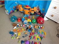 Octonauts octopod, 7 Gups and accessories