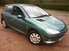 2002 PEUGEOT 206 1.4 5-DOOR**AUTOMATIC**MOT OCTOBER**VERY LOW MILEAGE**ONLY 45K FROM NEW