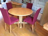 Scandinavian table & 4 chairs