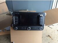 VW double din Raido system with Sat Nav.
