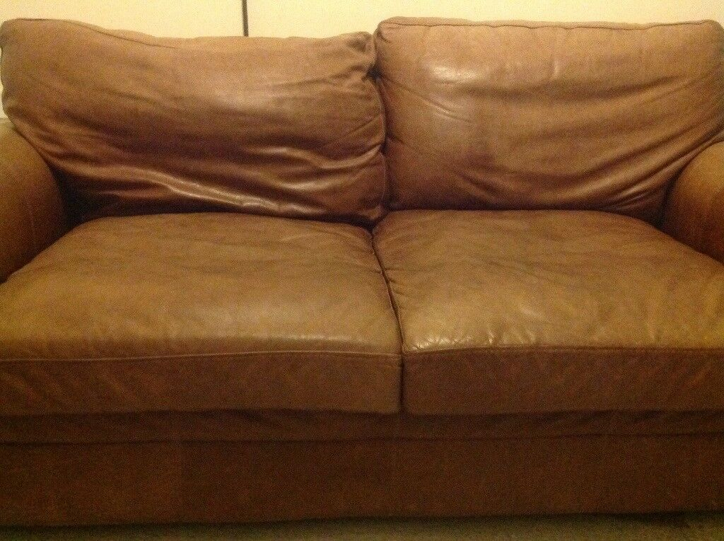 Large Two Seater Vintage Leather Sofa For Sale Collection Only But