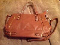 Tan Handbag with Shoulder Strap