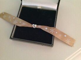 Genuine Lovelinks Sterling Silver Heart Shaped Bead