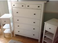 Chest of drawers and matching bedside tables