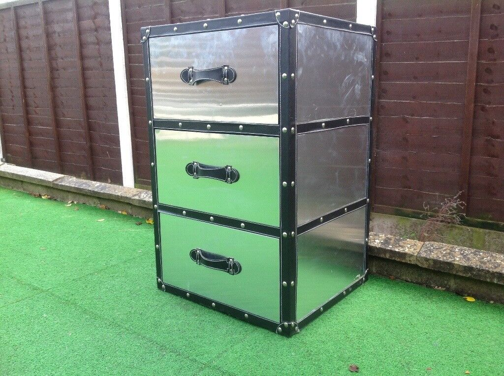 Chest of drawers stainless steel
