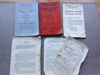 VINTAGE MUSICIANS UNION MEMORABILIA 1935, 1936, 1938, 1939