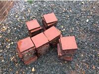 65 Victorian quarry tile / pavers 6 x 6