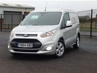 STUNNING LATE 2014 FORD TRANSIT CONNECT WITH ONLY 18K MILES. TOP SPEC LIMITED MODEL. 3 SEATS.