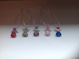 Hand made jewellery s/silver and genuine gems, crystal,etc, either in box or organza bag.
