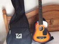 A small classical guitar