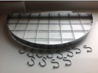 Kitchen Pot/Pan/Utensil Wall Hanger With 12 Hooks
