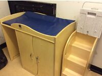 Large wooden baby changing unit