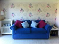 3 seater sofabed & armchair in excellent condition.