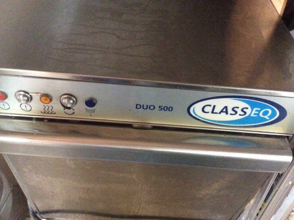 Classeq, duo 500 compact dishwasher.