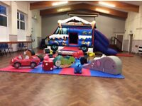 Mickey and Minnie mouse bouncy castle with Soft Play