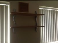 Three shelves with brackets