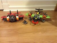 2 Imaginext planes with characters